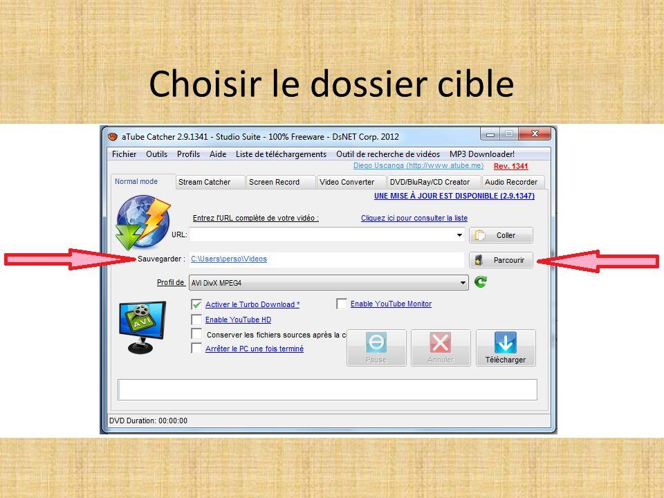 Choisir la zone à copier : CLIC 1