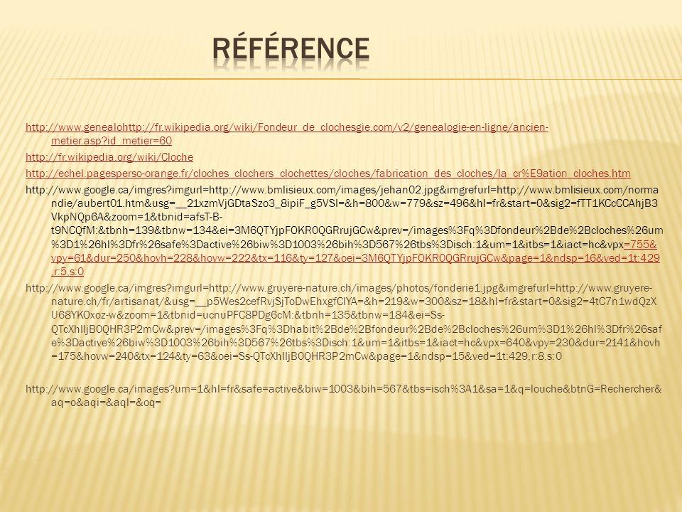 http://www.genealohttp://fr.wikipedia.org/wiki/Fondeur_de_clochesgie.com/v2/genealogie-en-ligne/ancien- metier.asp?id_metier=60 http://fr.wikipedia.or