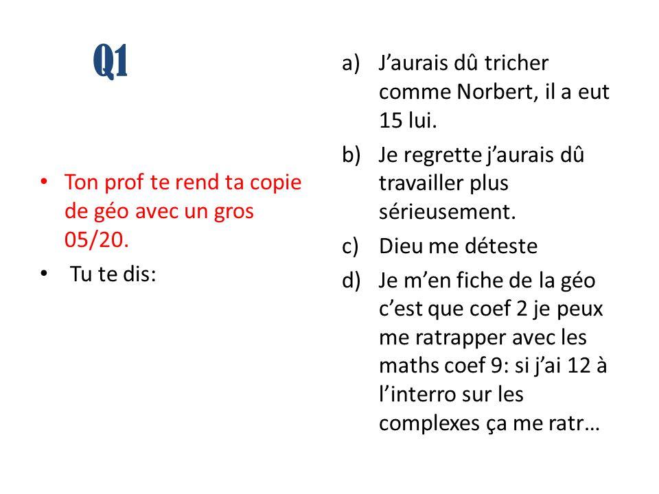 Q1 Ton prof te rend ta copie de géo avec un gros 05/20.