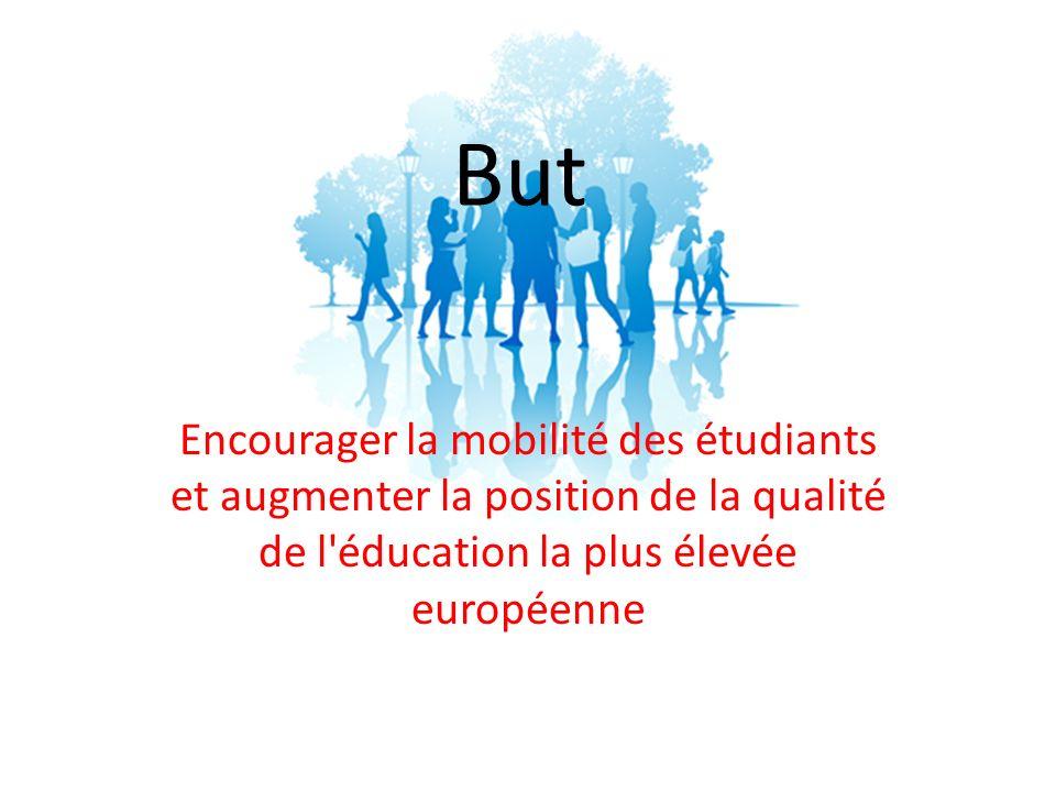 But Encourager la mobilité des étudiants et augmenter la position de la qualité de l éducation la plus élevée européenne