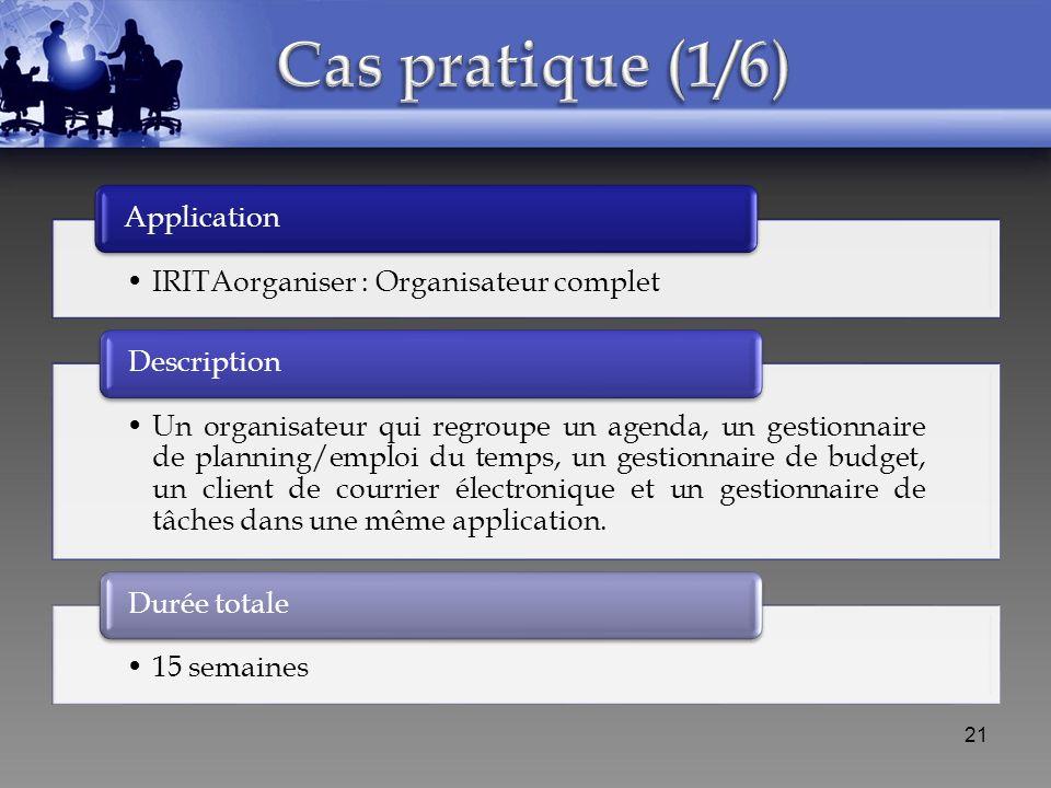 IRITAorganiser : Organisateur complet Application Un organisateur qui regroupe un agenda, un gestionnaire de planning/emploi du temps, un gestionnaire