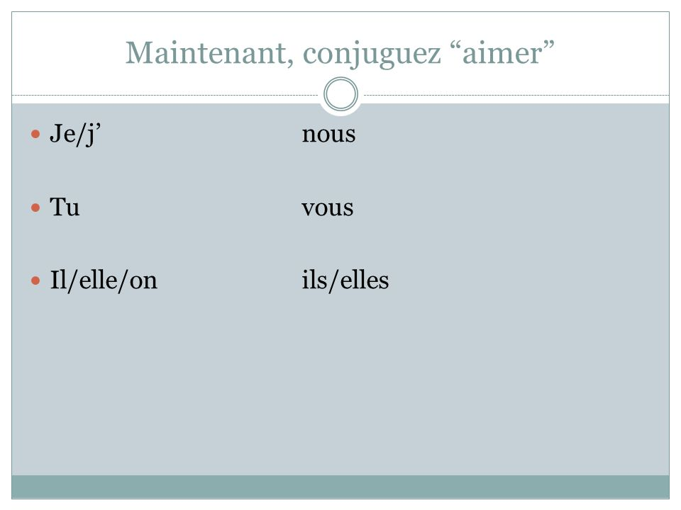 Un verbe irregulier Whats an irregular verb.
