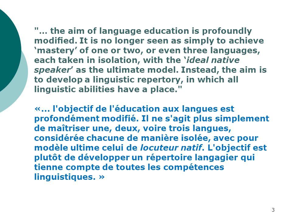 Bi- lingualism Bilinguisme Multi-lingualism Multilinguisme Pluri-lingualism Plurilinguisme Lingualism Linguisme 14