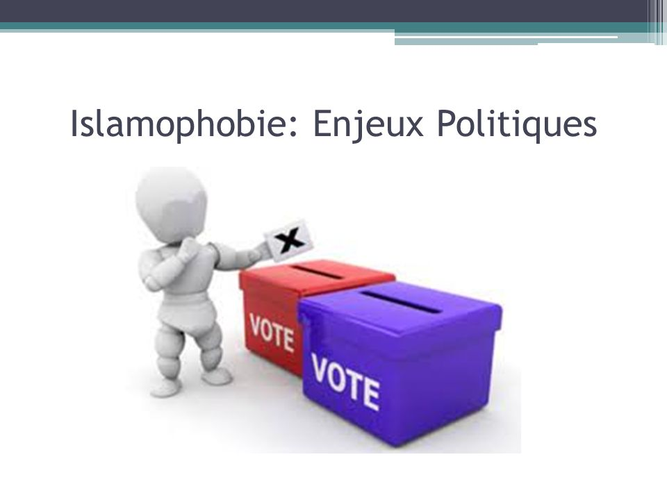 Islamophobie: Enjeux Politiques