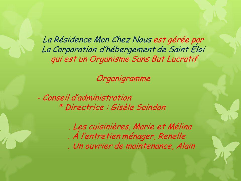 Résidence Mon Chez Nous de Saint-Éloi Résidence pour personnes âgées autonomes