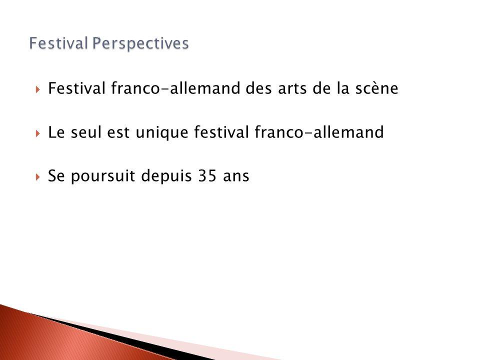 Festival franco-allemand des arts de la scène Le seul est unique festival franco-allemand Se poursuit depuis 35 ans