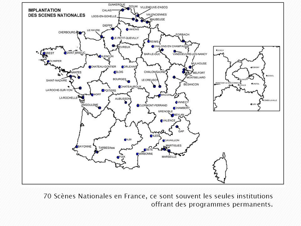 70 Scènes Nationales en France, ce sont souvent les seules institutions offrant des programmes permanents.