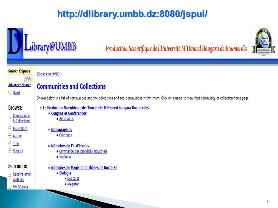 11 http://dlibrary.umbb.dz:8080/jspui/