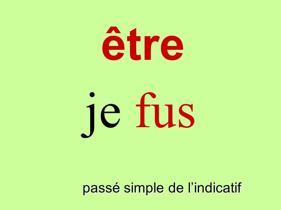 être passé simple de lindicatif