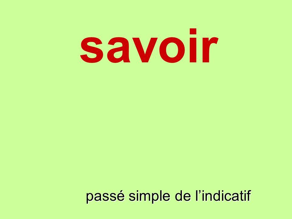 savoir passé simple de lindicatif