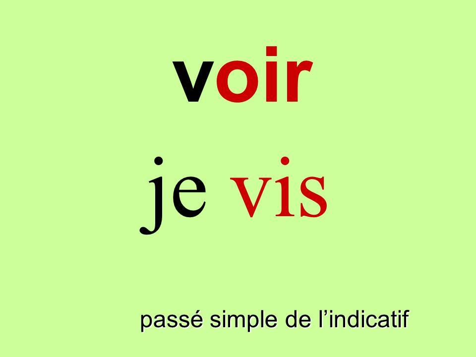 voir passé simple de lindicatif