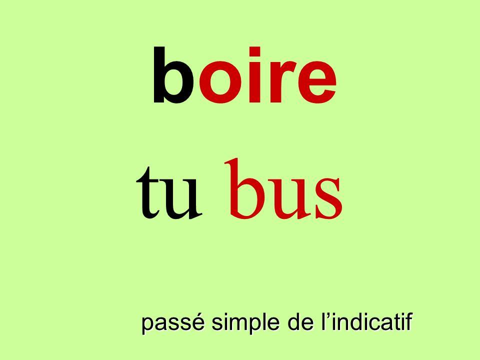passé simple de lindicatif tu bus boire