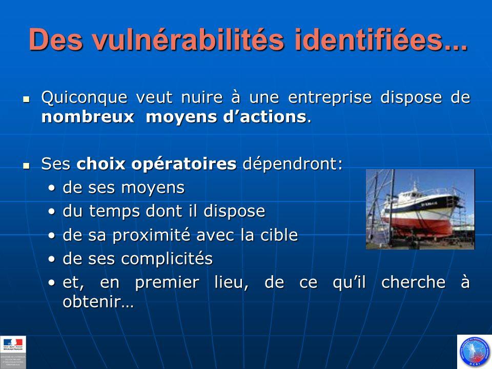 Des vulnérabilités identifiées...