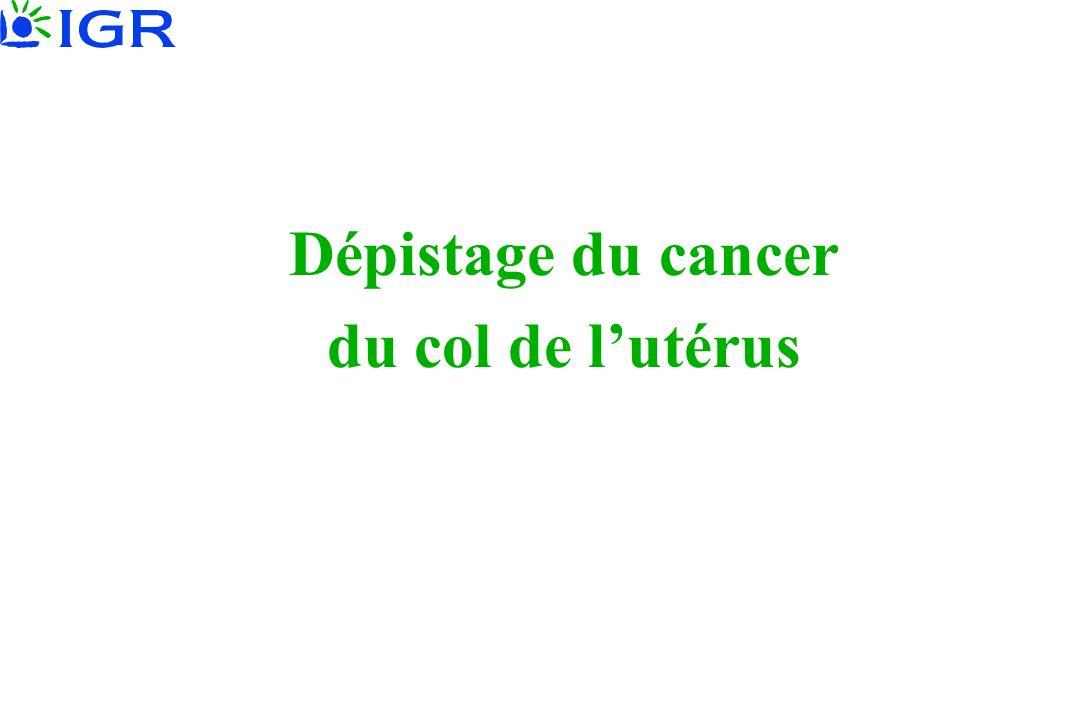 Dépistage du cancer du col de lutérus