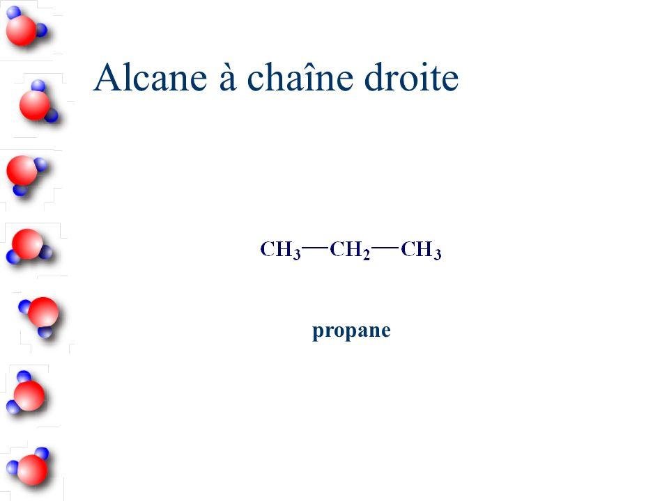 Alcane à chaîne droite propane