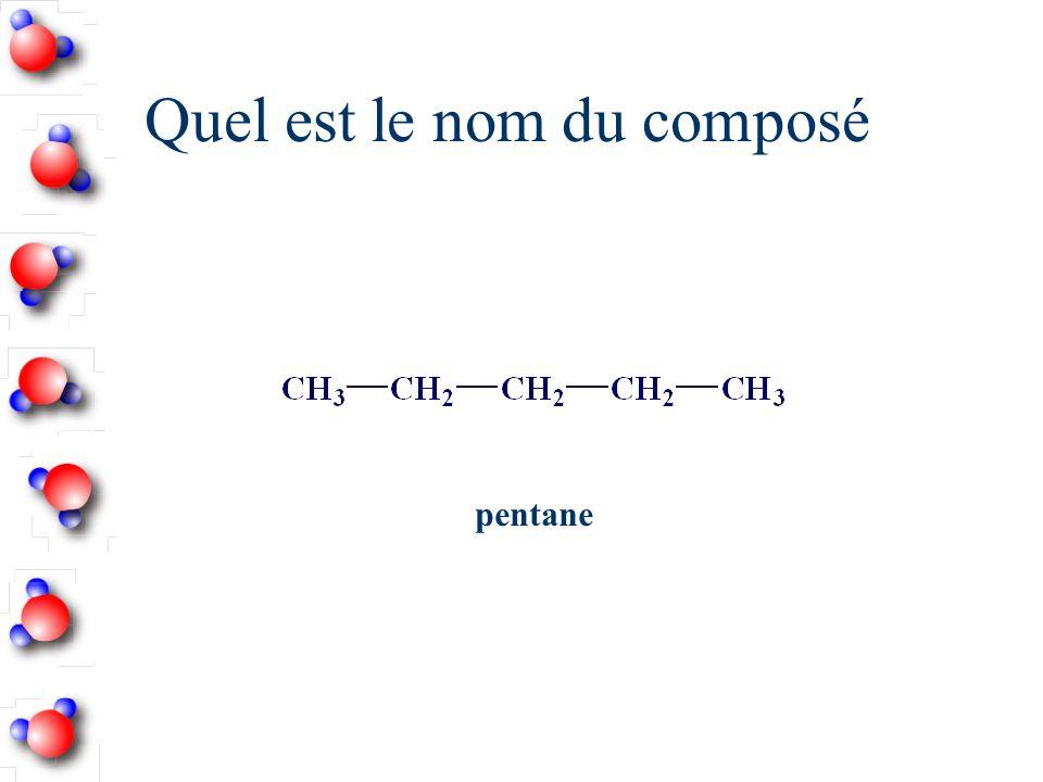 Quel est le nom du composé pentane