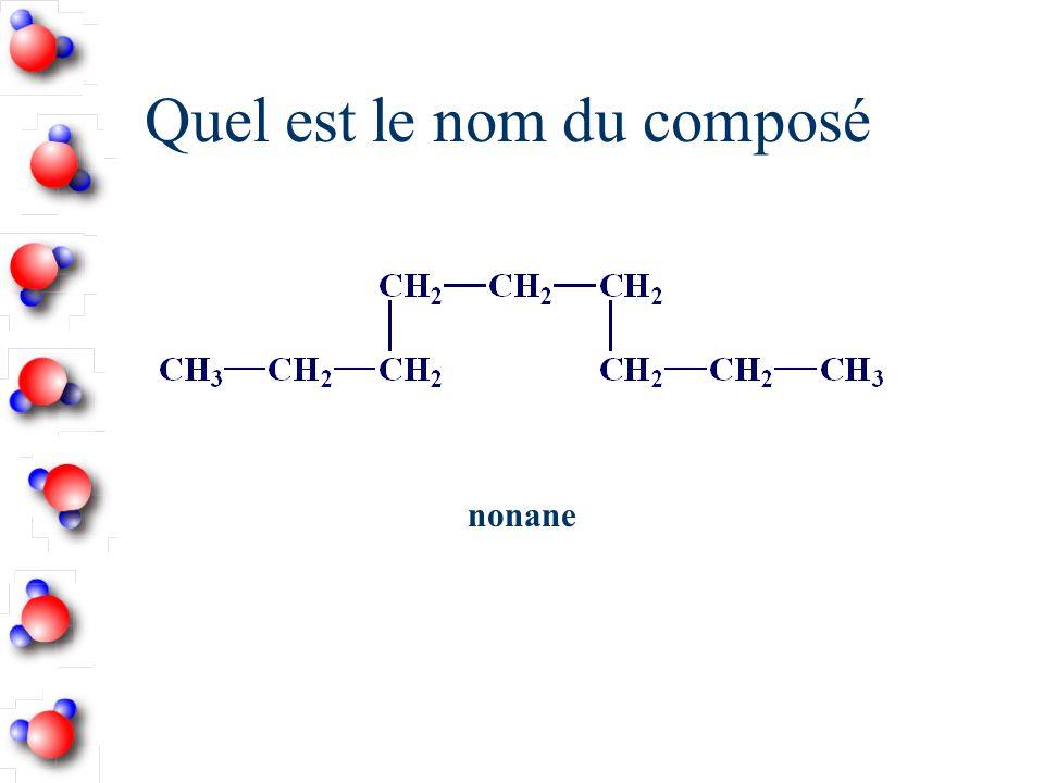 Quel est le nom du composé nonane