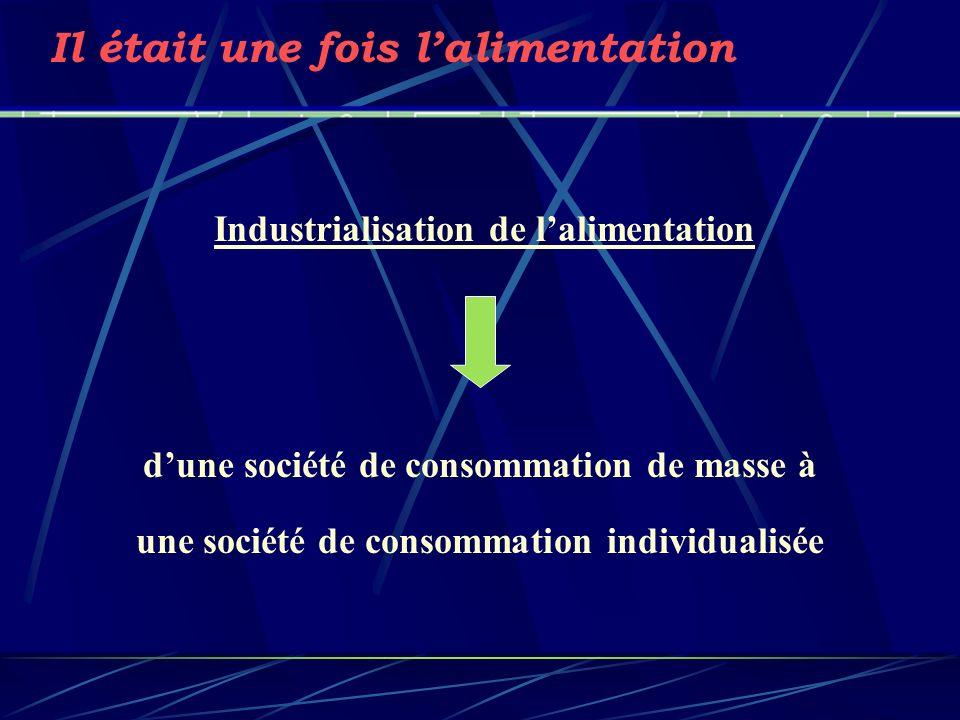 Industrialisation de lalimentation Il était une fois lalimentation dune société de consommation de masse à une société de consommation individualisée