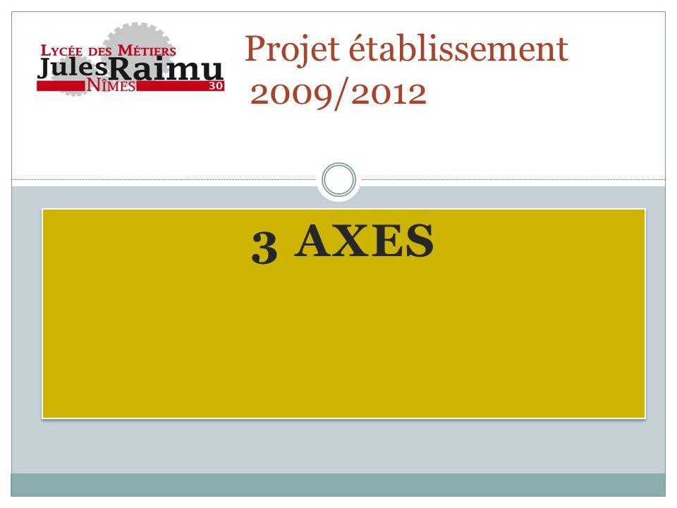 3 AXES Projet établissement 2009/2012