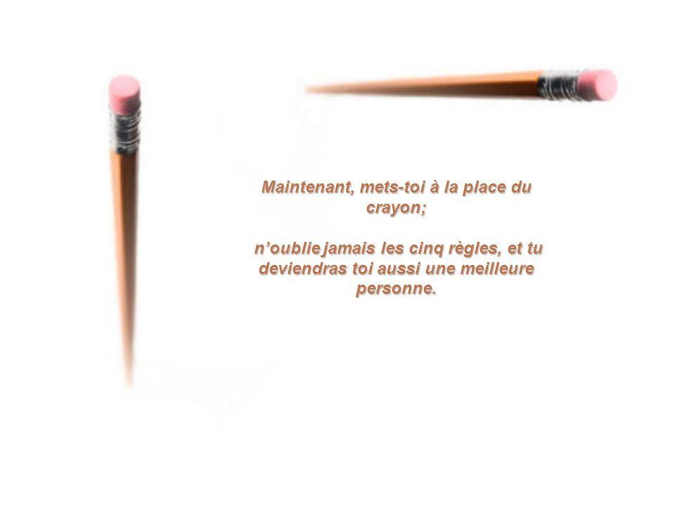 Le crayon écouta, promit de se souvenir et entra dans la boite en comprenant pleinement les motivations de son fabriquant.