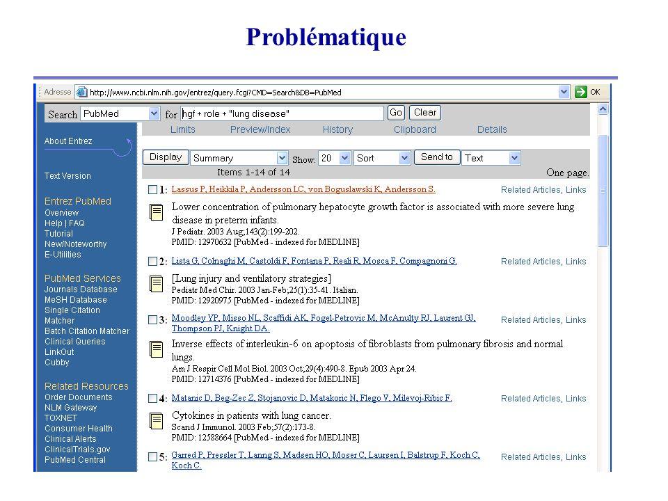 3 Problématique Pauvreté sémantique des moteurs de RI (basés sur les mots clés) Prolifération incessante des documents sur le web Ce qui entraîne : Un