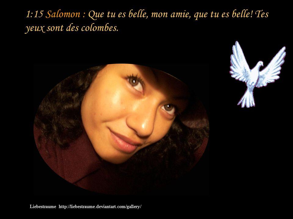 1:14 Sulammith : Mon bien-aimé est pour moi une grappe de troëne Des vignes d En-Guédi.