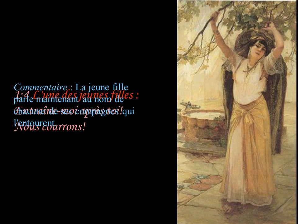 3:1 Sulammith : Sur ma couche, pendant les nuits, J ai cherché celui que mon cœur aime; Je l ai cherché, et je ne l ai point trouvé...