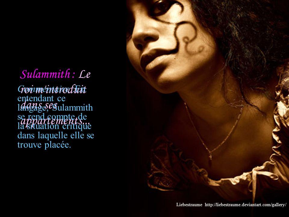 1:15 Salomon : Que tu es belle, mon amie, que tu es belle.