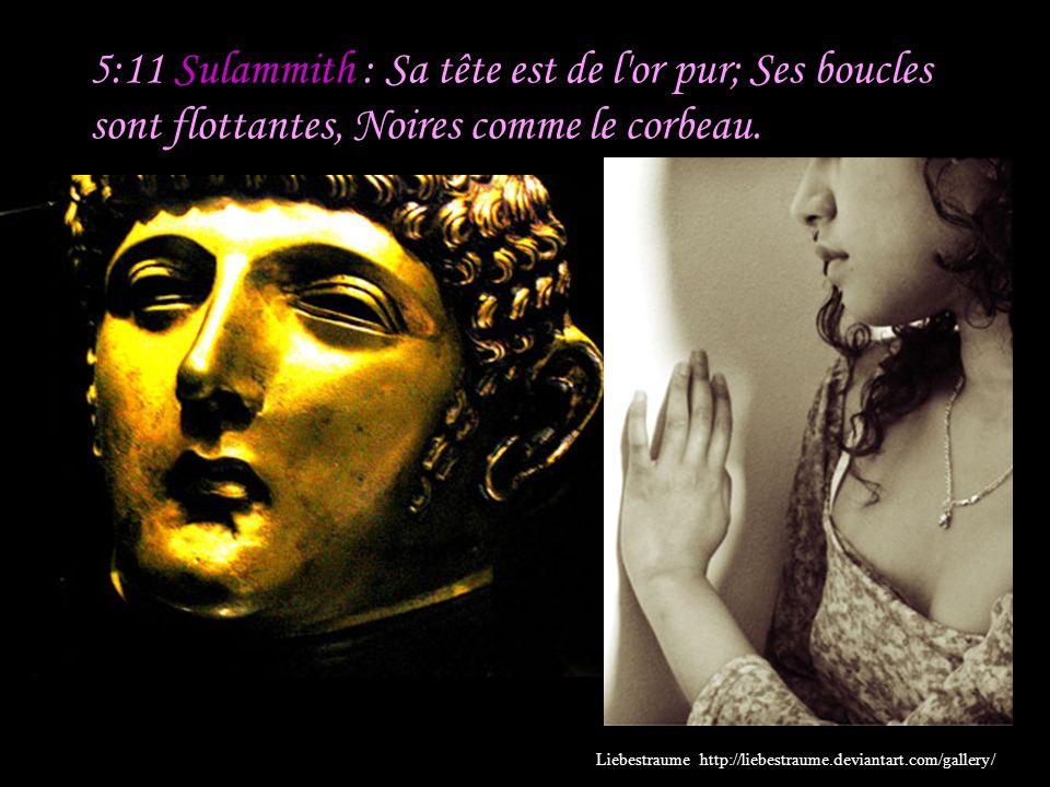 5:10 Sulammith : Mon bien-aimé est blanc et vermeil; Il se distingue entre dix mille. Commentaire : La réponse de Sulammith est une description enthou