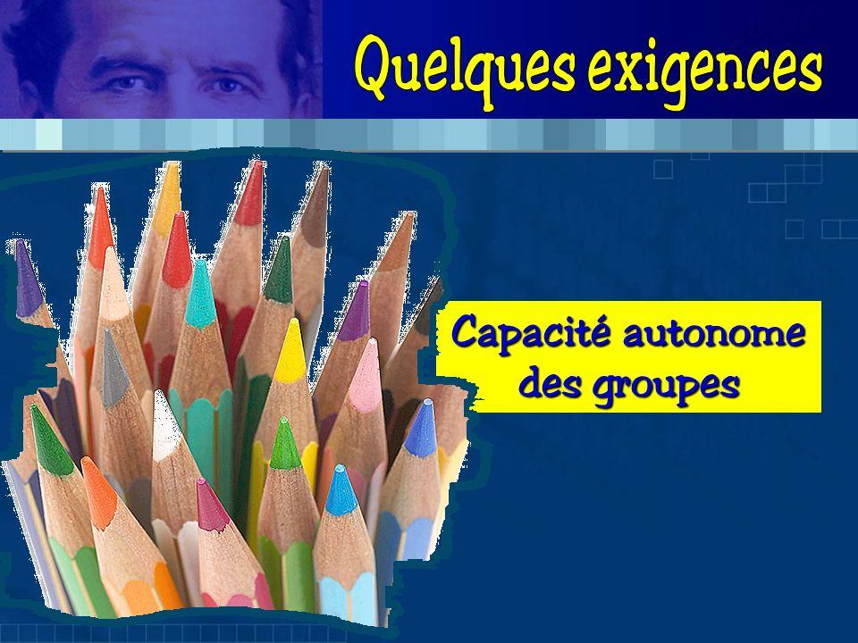 Capacité autonome des groupes