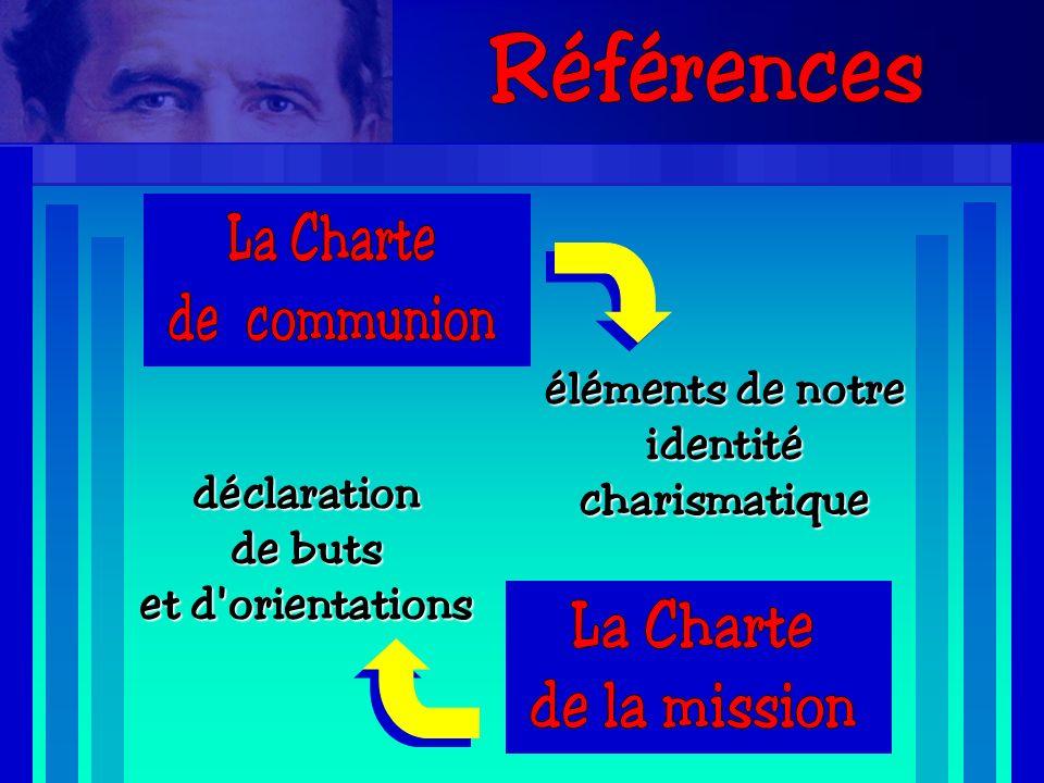 éléments de notre identitécharismatique déclaration de buts et d orientations