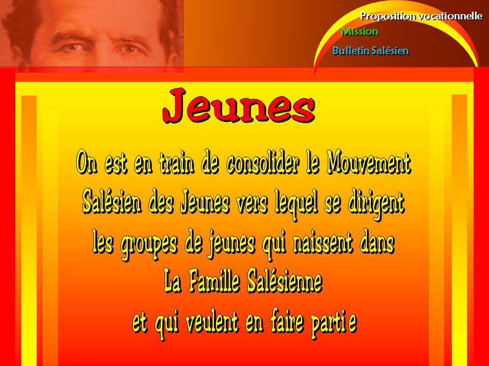 Proposition vocationnelle Mission Bulletin Salésien