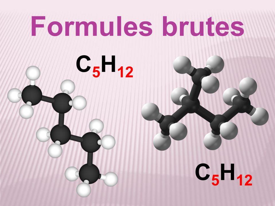 Formules brutes C 5 H 12