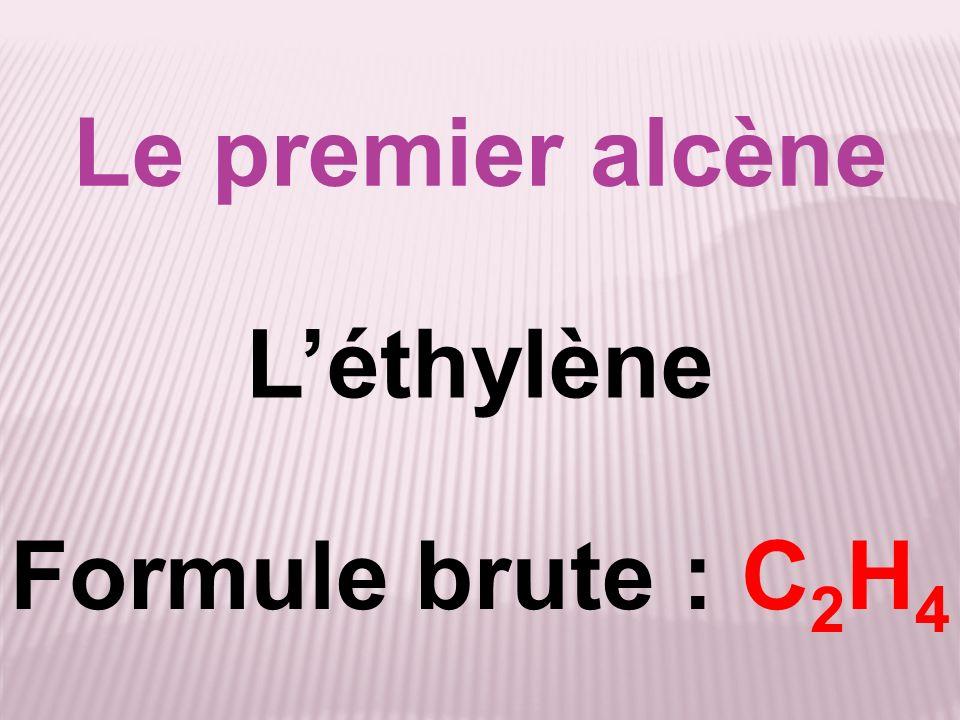 Le premier alcène Léthylène Formule brute : C 2 H 4