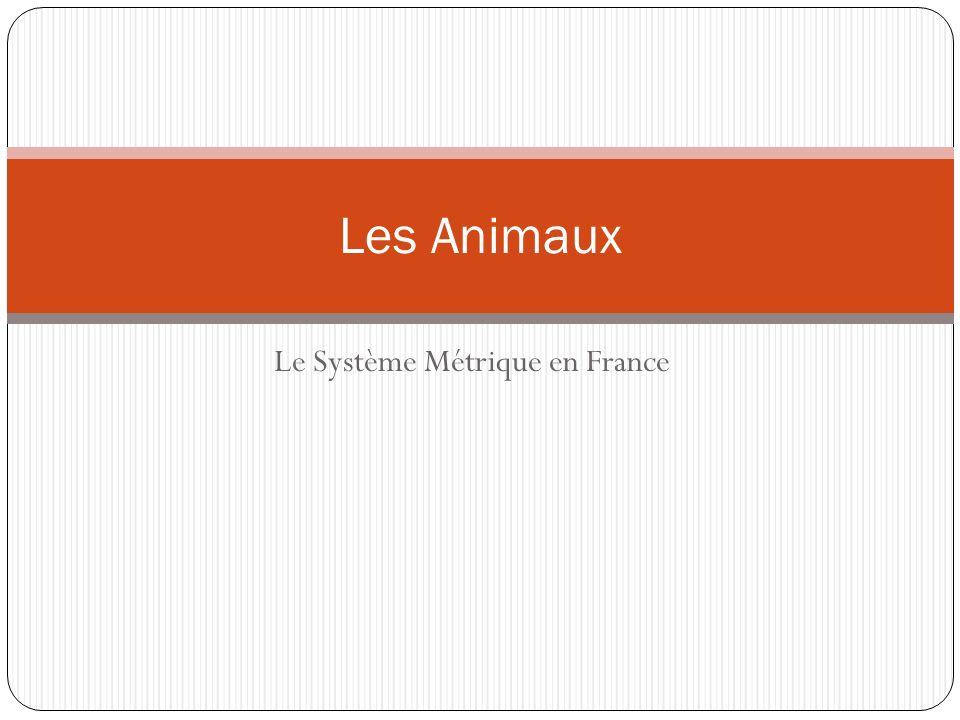 Le Système Métrique en France Les Animaux