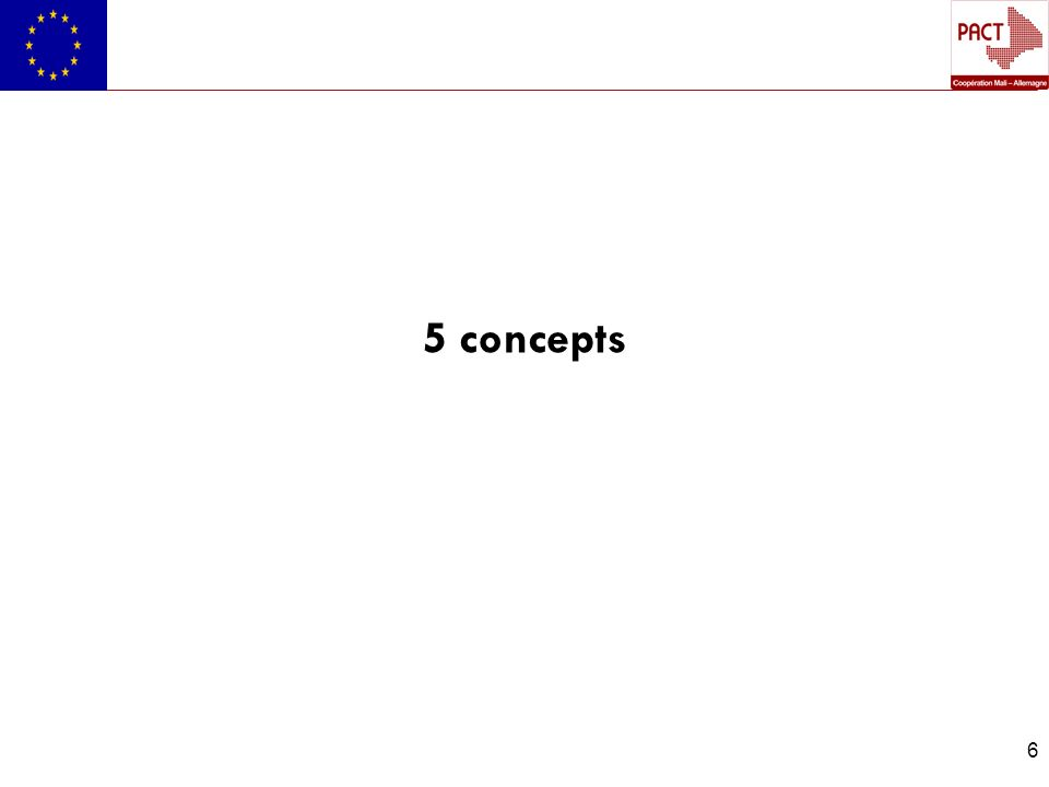 7 5 Concepts 1.Enjeux de développement : Induit la notion de gain ou de perte selon quon agisse ou non.