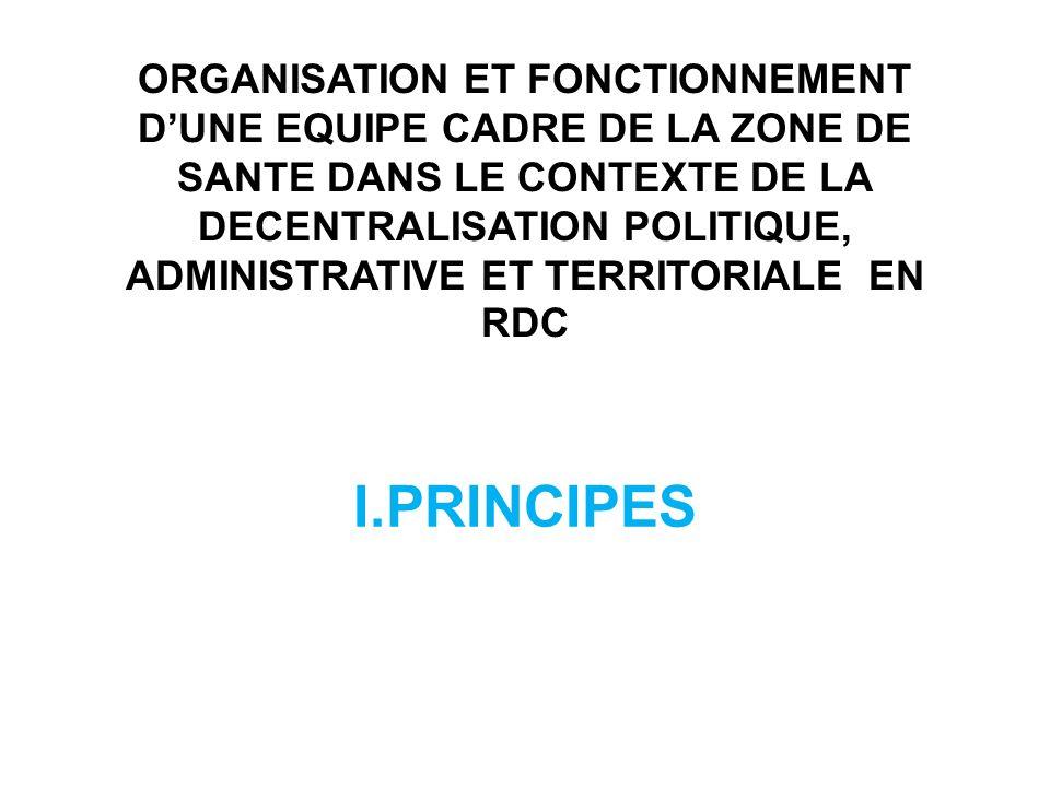 I.1 Le personnel cadre Le premier point important de la politique dune zone de santé est la formation du personnel cadre.
