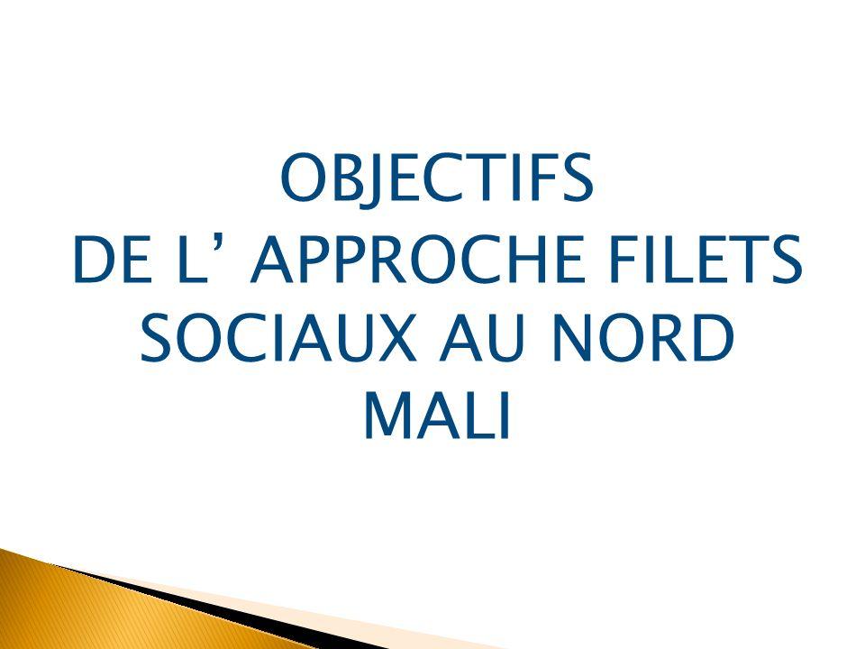 OBJECTIFS DE L APPROCHE FILETS SOCIAUX AU NORD MALI