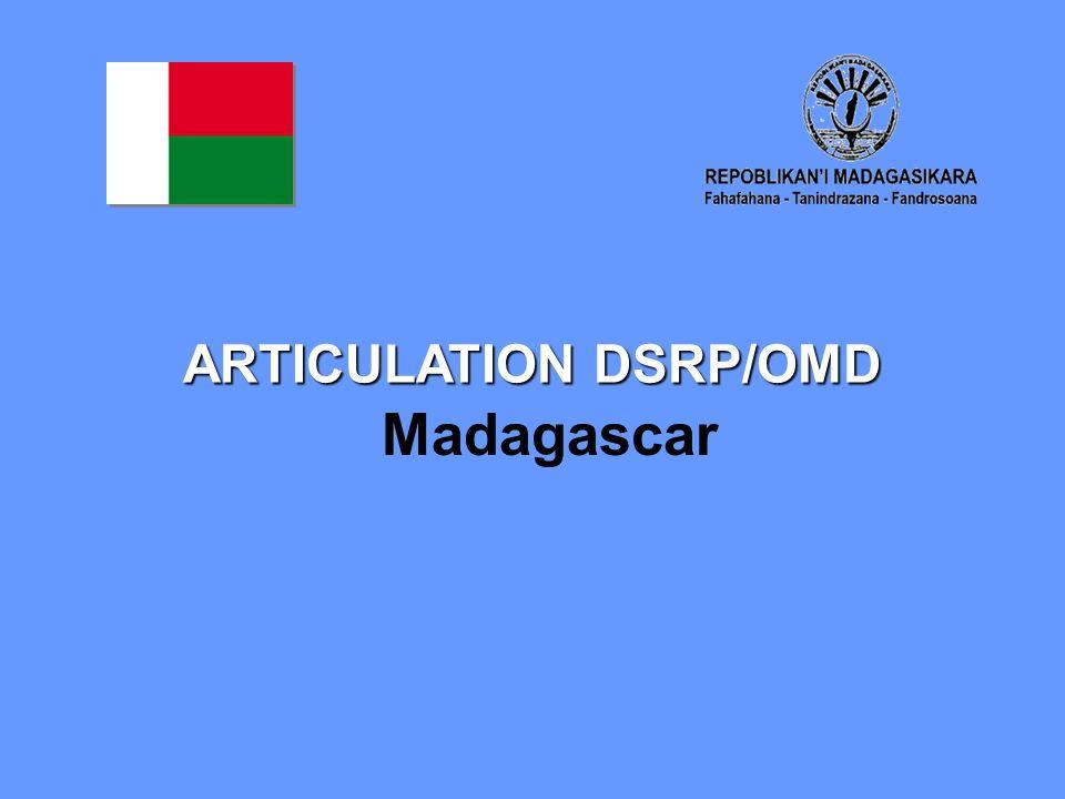 ARTICULATION DSRP/OMD Madagascar