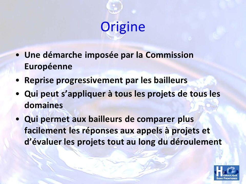 Origine Une démarche imposée par la Commission Européenne Reprise progressivement par les bailleurs Qui peut sappliquer à tous les projets de tous les