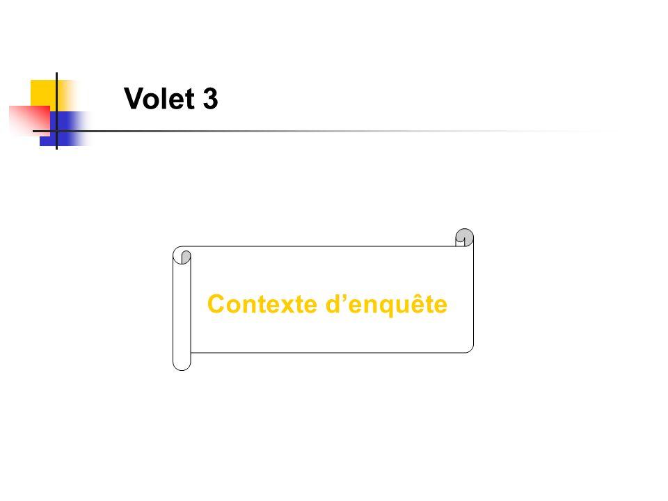 Volet 3 Contexte denquête