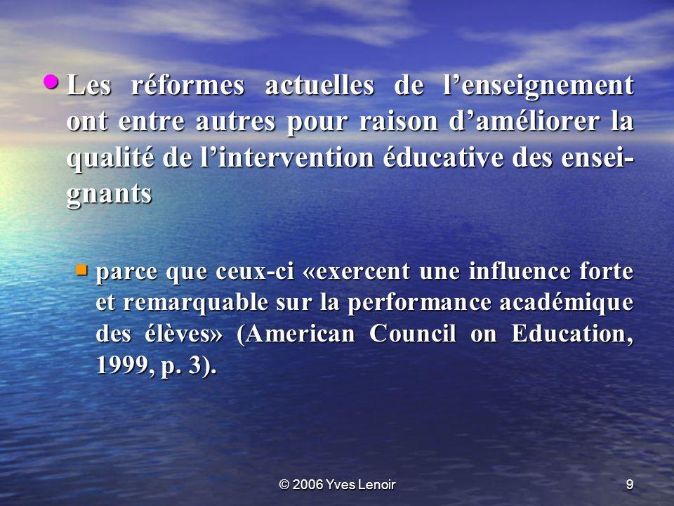 © 2006 Yves Lenoir30