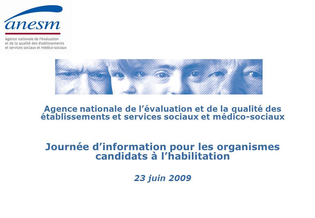 Journée dinformation sur lévaluation externe et lhabilitation - 23 juin 200942 1.