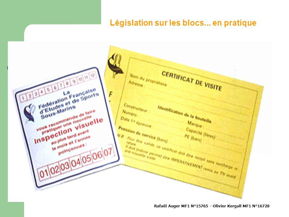 Législation sur les blocs... en pratique Rafaël Auger MF1 N°15765 - Olivier Kergall MF1 N°16728