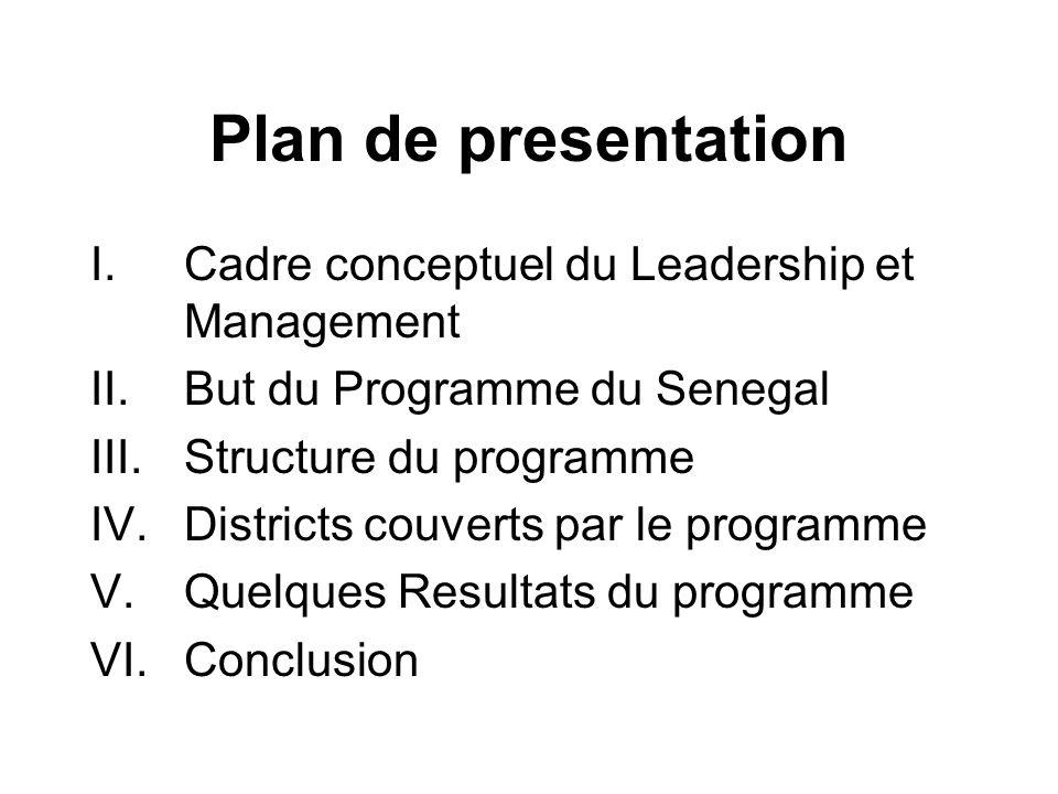 V- Quelques résultats obtenus a la fin du programme au Sénégal
