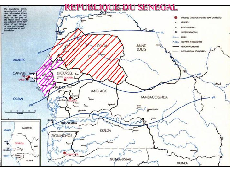 IV- Districts couverts par le programme Region de Thies 1.Joal fadiouth, 2.Tivavouane, 3.Khombole, 4.