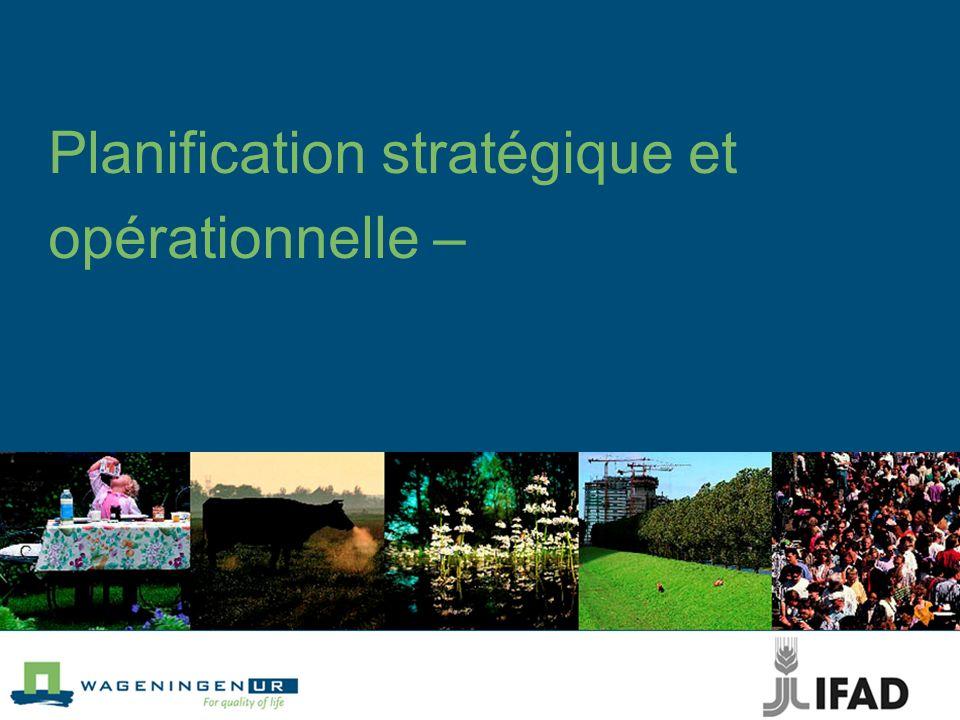 Planification stratégique et opérationnelle –