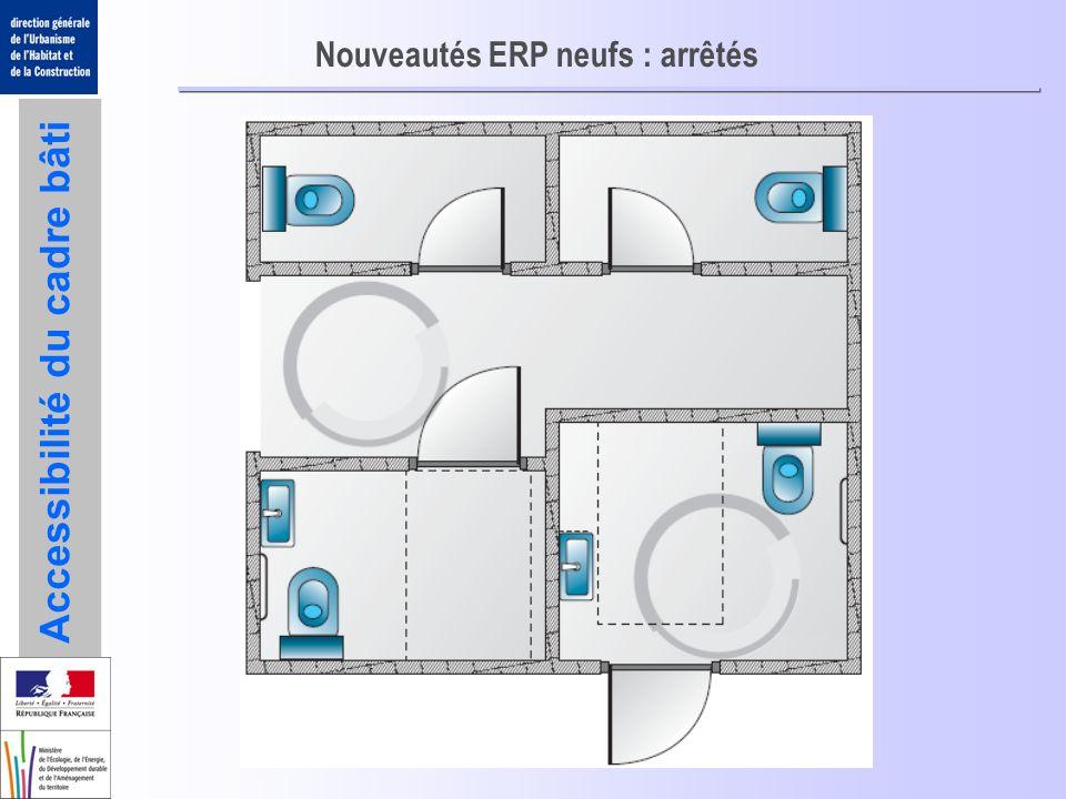 Accessibilité du cadre bâti Nouveautés ERP neufs : arrêtés