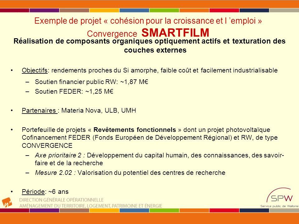7e programme cadre de recherche et de développement technologique Objectif : renforcer la base scientifique et technologique de la communauté industrielle, en assurant un haut niveau de compétitivité au niveau international en vue de créer des synergies dans la recherche européenne