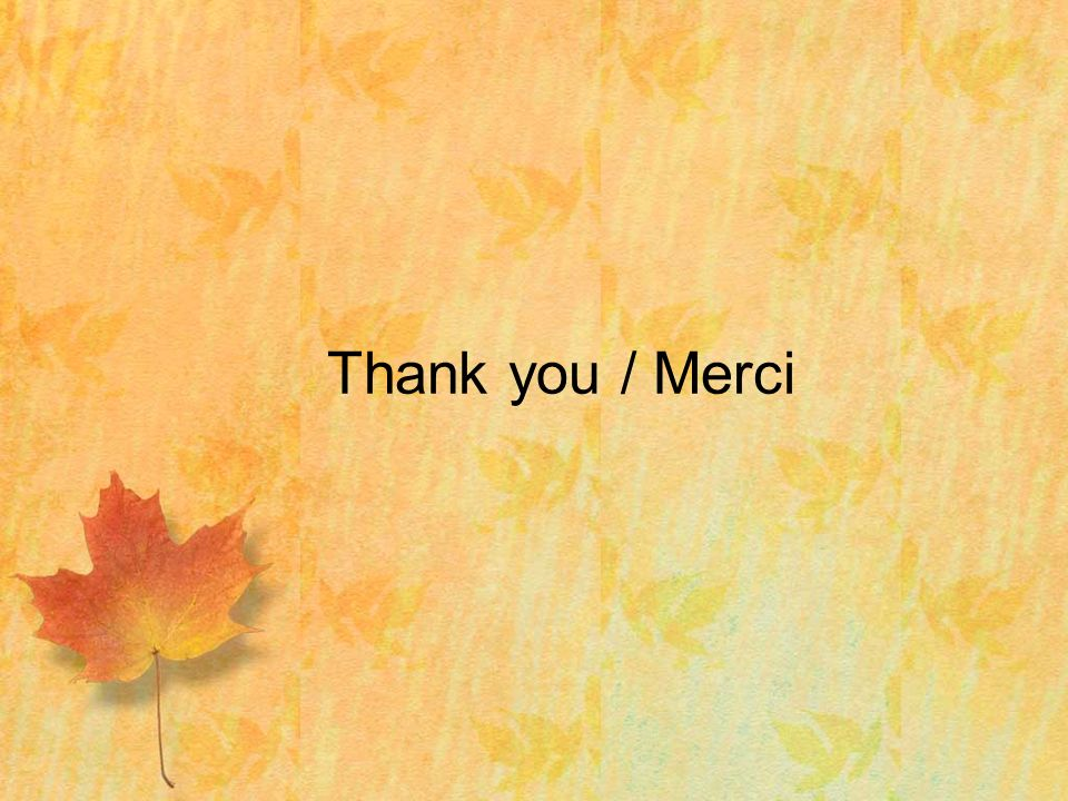 Thank you / Merci